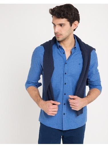 Pierre Cardin Uzun Kollu Slim Fit Gömlek Mavi